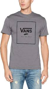 Camiseta Hombre VANS manga corta mn print box ref.VA312SHGB gris letras negras