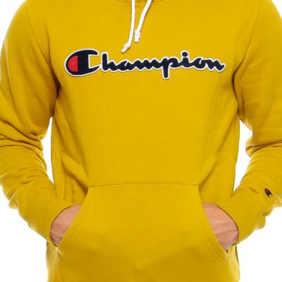 Sudadera CHAMPION Hombre con capucha Terry Hoodie Ref. 213498-YS071 amarillo mostaza