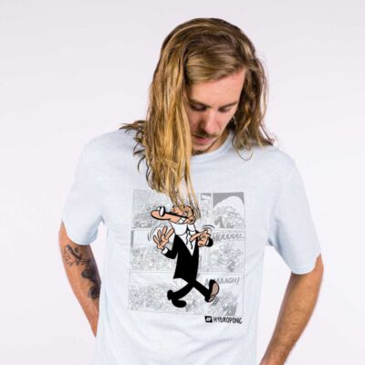 Camiseta Hombre HYDROPONIC manga corta T-SHIRT MORTADELO CLASSIC Ref. 19000 white blanca