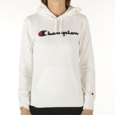 Sudadera Mujer CHAMPION con capucha Hooded Sweatshirt Ref. 111383 White Blanca