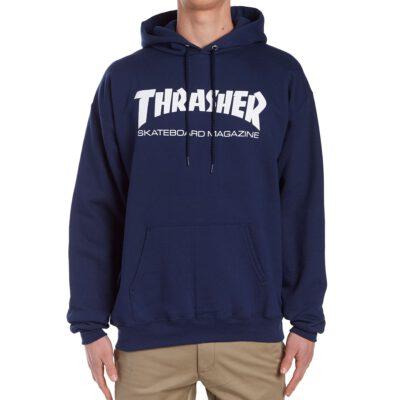 Sudadera Hombre con capucha THRASHER Skate Mag Hoodie Navy Ref. 113103 Azul Marino logo blanco