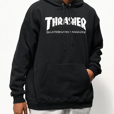 Sudadera Hombre con capucha THRASHER Skate Mag Hoodie Black Ref. 113103 Negra logo blanco