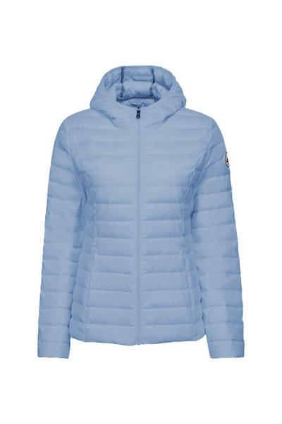Chaqueta capucha Jott de plumas Mujer Bleu Celeste 2900 CLOE BASIC Justoverthetop Color Azul celeste clarito