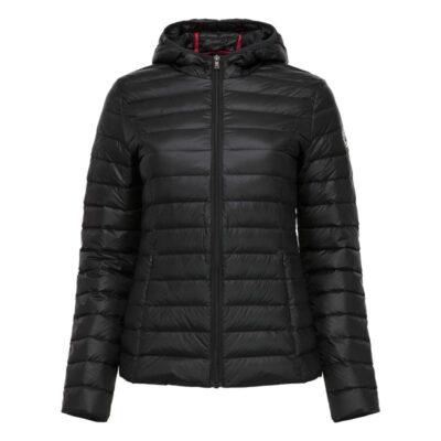 Chaqueta capucha Jott de plumas Mujer Noir 999CLOE BASIC Justoverthetop Color Negra