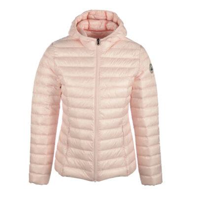 Chaqueta capucha Jott de plumas Mujer Rose Pastel 458 CLOE BASIC Justoverthetop Color rosa pastel