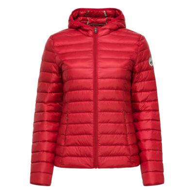 Chaqueta capucha Jott de plumas Mujer Red 1900CLOE 300 BASIC Justoverthetop Color Rojo