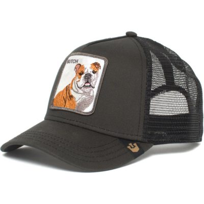 Gorra GOORIN BROS rejilla ajustable BUTCH TRUCKER perro Bulldog BUTCH color negro