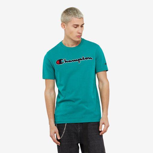 Camiseta manga corta CHAMPION Hombre Cuello redondo SATIN SCRIPT LOGO CREW NECK T-SHIRT Ref. 212946 Verde
