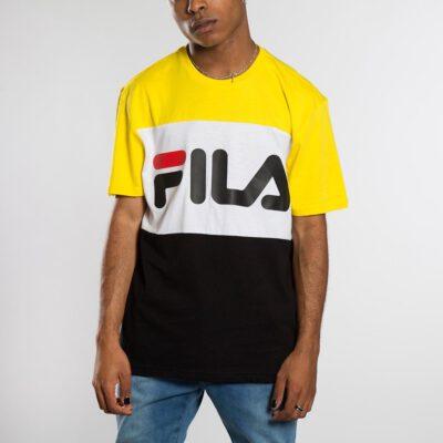 Camiseta manga corta FILA chico Men Day Tee Ref. 681244 Amarilla Blanca negra bandas