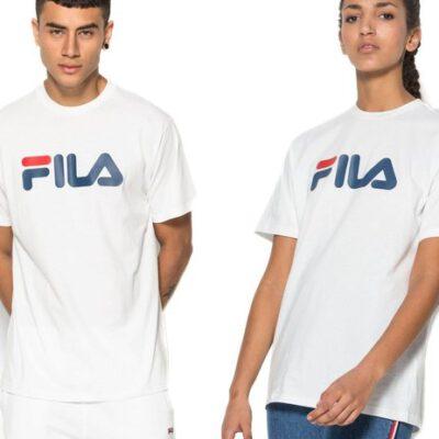 Camiseta manga corta FILA chico Classic Pure Tee Ref. 681093 blanca logo pecho