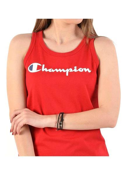 Camiseta tirantes CHAMPION chica SCRIPT LOGO PATCH TANK TOP Ref. 111791 roja