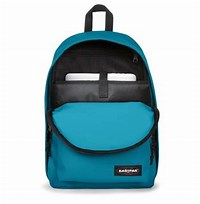 MOCHILA EASTPAK Out Of Office 27L. Ref. EK76754T Novel Blue Azul turquesa intenso con bolsillo ordenador