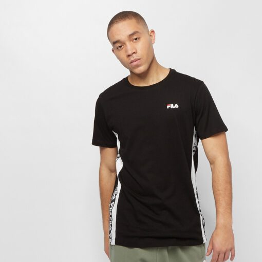 Camiseta manga corta FILA chico Men Tobal Tee Ref. 687709 Negra bandas impresas logos