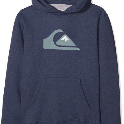 Sudadera niño Quiksilver con capucha para Chicos Logo Ref. EQBFT03493 bteh azul tejano logo grande