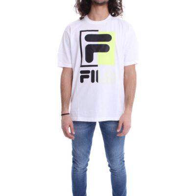 Camiseta manga corta FILA chico Men Saku Tee Ref. 687475 Negra logo fila grande pecho
