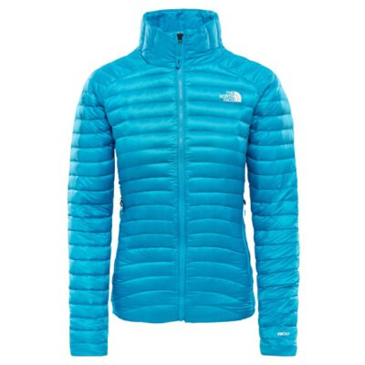 Chaqueta de Plumón The North Mujer Face impendor W Meridiano Azul T93OD2D7R azul turquesa
