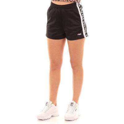 Pantalón Shorts corto FILA chica TTARIN SHORTS Ref. 687689 negro bandas laterales logos