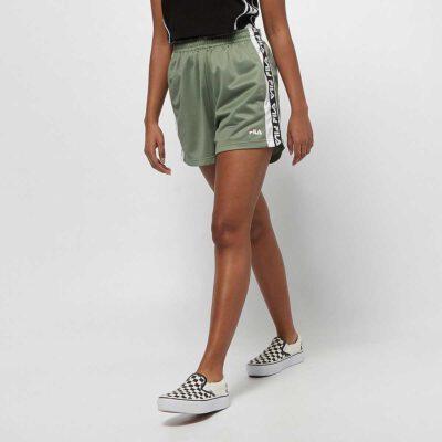 Pantalón Shorts corto FILA chica TTARIN SHORTS Ref. 687689 verde caqui bandas laterales logos