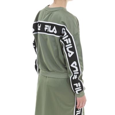 Sudadera FILA chica cuello redondo TALLIS CREW SWEAT Ref. 687693 verde caqui logo espalda