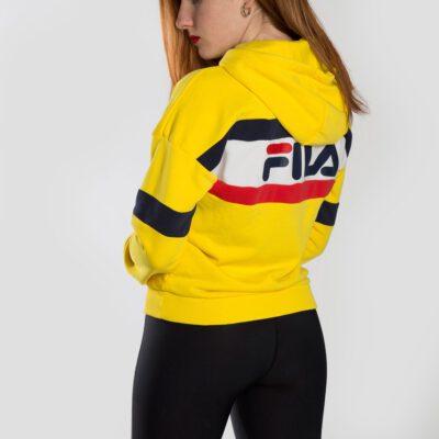 Sudadera FILA chica con capucha ELLA HOODIE Ref. 687079 Amarilla, blanco y marino