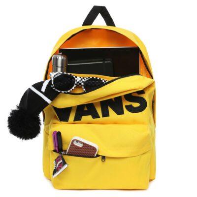 Mochila Vans unisex OLD SKOOL III Ref. VN0A3I6R85w1 amarillo con logo negro bolsillo ordenador