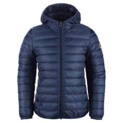 Chaqueta capucha Jott de plumas Niño 140HUGO BASIC Bleu jeans Justoverthetop Color azul tejano