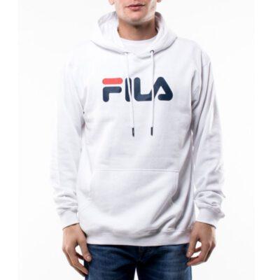 Sudadera FILA Hombre con capucha CLASSIC PURE HOODY Ref. 681090 blanca logo pecho