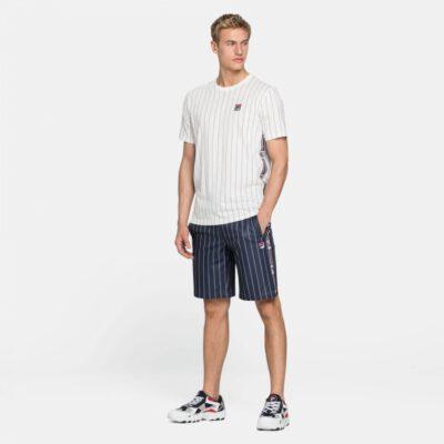 Pantalón Shorts corto FILA chico HALL AOP SHORTS Ref. 687643 marino rayas blancas