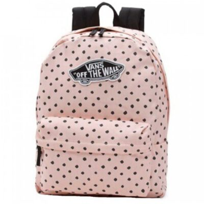 Mochila Vans unisex Realm Backpack III Ref. VN000NZ0O3P Rosa palo con topitos negros