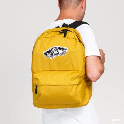 Mochila Vans unisex Realm Backpack III Ref. VN0A3UI6ZLM Mostaza con logo negro y blanco bolsillo ordenador