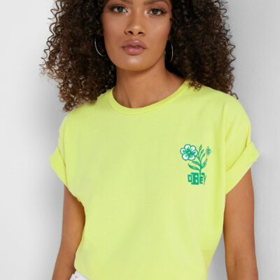Camiseta manga corta OBEY chica Bloom Ref. 267621662 Bright lemon amarillo limón flores