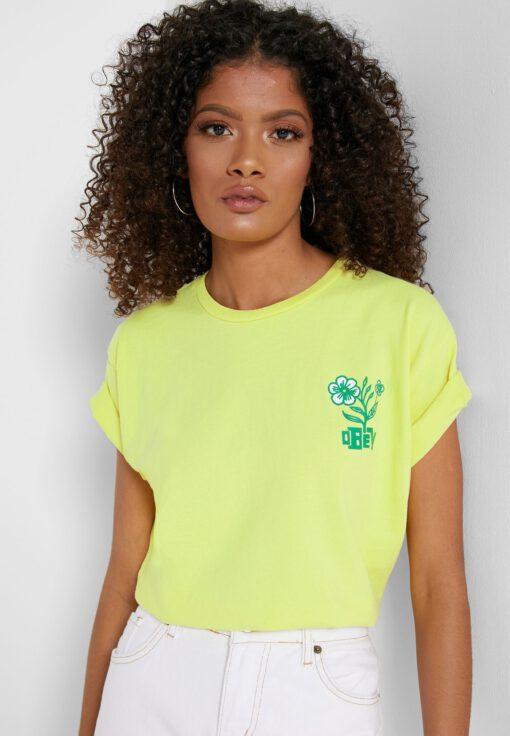 Camiseta manga corta OBEY chica Bloom Ref. 267621662 Bright lemon amarillo limón flores