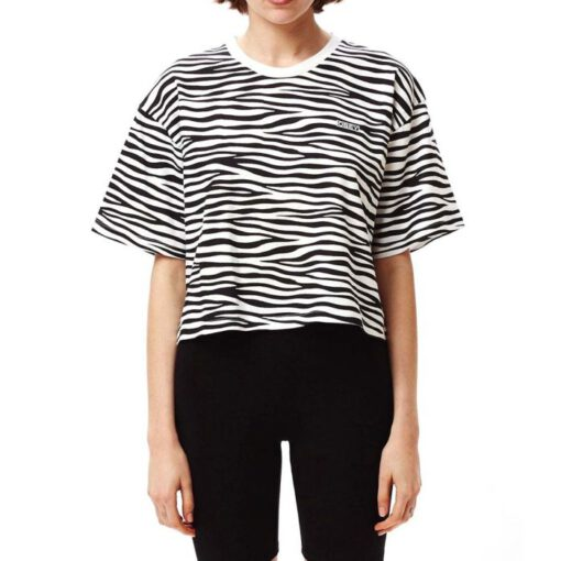 Camiseta manga corta OBEY chica Festy Tee Ref. 2361080093 Zebra blanco y negra