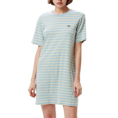 Vestido camisero manga corta OBEY chica Gazer Box Top Ref. 401500328 Rayada Ligth blue multi azul pastel rayas
