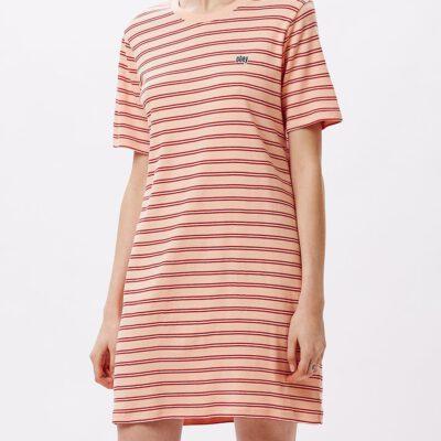 Vestido camisero manga corta OBEY chica Gazer Dress Ref. 401500328 Peach multi melocotón rayas
