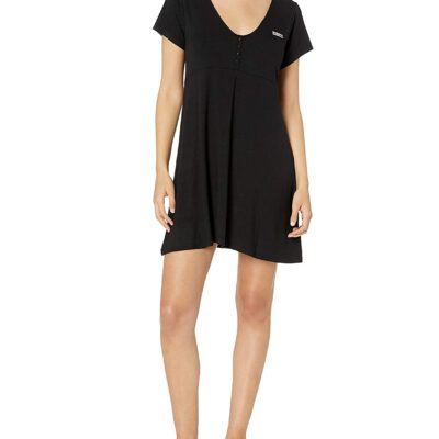 Vestido camisero manga corta OBEY chica Pedal Dress Ref. 401500326 multi color negro