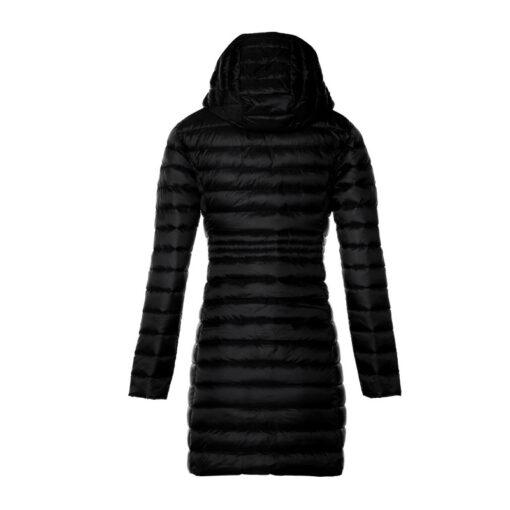 Chaqueta Jott midi de plumas Mujer Black 999 Vero BASIC Larga Justoverthetop Color negro