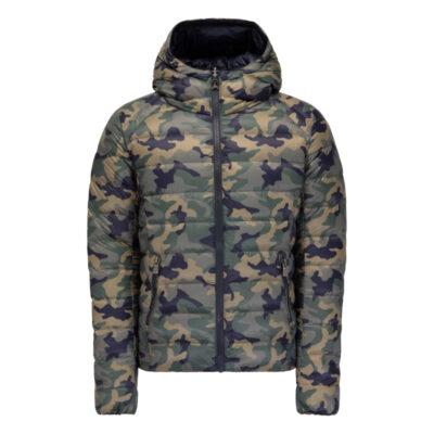 Chaqueta capucha Jott de plumas Hombre GRAN FRÍO 946 TANZANIE Justoverthetop REVERSIBLE camuflaje y azul marino