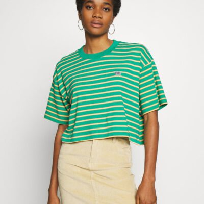 Camiseta manga corta OBEY chica Gazer Box Top Ref. 231080091 Rayada Emerald Multi verde rayada