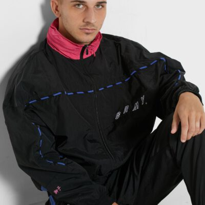 Chaqueta chándal GRIMEY Urmah Dojo Track Jacket SS20 Black Ref. GTJ157-BLK negra dibujo espalda