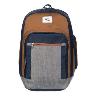 Mochila QUIKSILVER EQYBP03107 Castlerock Casual Backpack SCHOOLIE 32 Litros con bolsillo ordenador azul marrón y gris