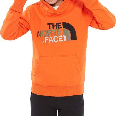 Sudadera THE NORTH FACE niño con capucha DREW PEAK ref. T933HVOW.XL NARANJA con logo bordado