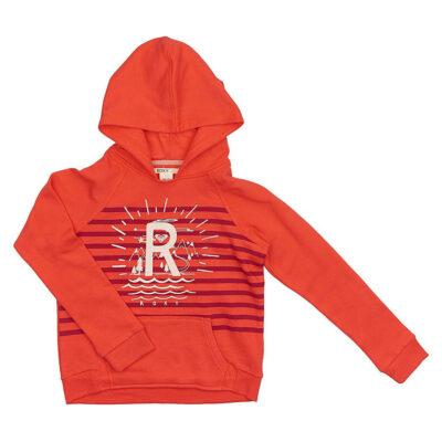 Sudadera ROXY niña con capucha Ref. ERGFT03108 Color RMCO Rosa dibujo frontal