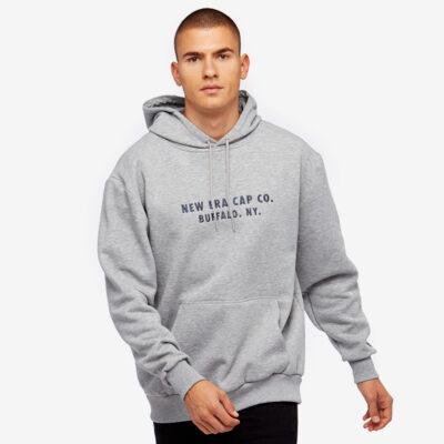 Sudadera NEW ERA Hombre con capucha cómoda Branded Hoodies Ref. 11788961 gris jaspeado Cao co. BUFFALO. NY.