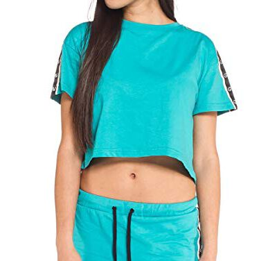 Camiseta Grimey Chica manga corta THE GATEKEEPER CROP TOP FW17 Ref. GACTP475 Azul turquesa