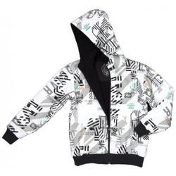 Sudadera exterior niño QUIKSILVER con capucha y forrada interior borreguito Hood Zip Sweat Sherpa All Over Shirt Jacke Ref. Kkmsw963 Blanco