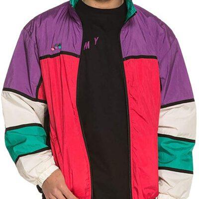Chaqueta chándal GRIMEY Track Jacket Brick Top SS19 Purple Ref. GTJ145-PRP Color púrpura, rosa, verde, blanca