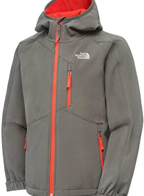 Chaqueta softshell The North Face hombre T0A6MM044 Graphite grey gris con detalles naranjas