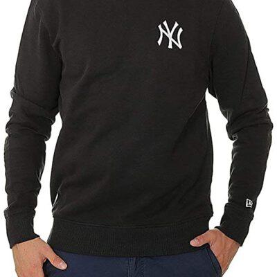 Sudadera NEW ERA Hombre Cuello redondo casual MIKINA MLB ESSENTIAL CREW NEYYAN BLK NEW YORK YANKEE Ref.11604140 negro parche NY en el pecho