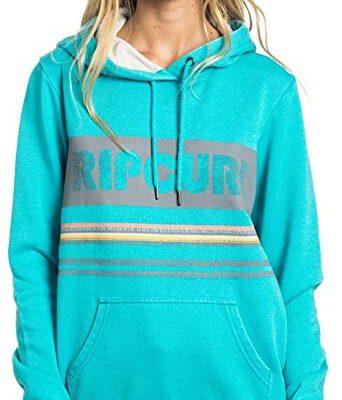 Sudadera RIP CURL Mujer con capucha Active Stripe Fleece con Forro Polar Ref. GFEEL4 Azul turquesa
